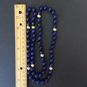 Vintage lapis necklaces.